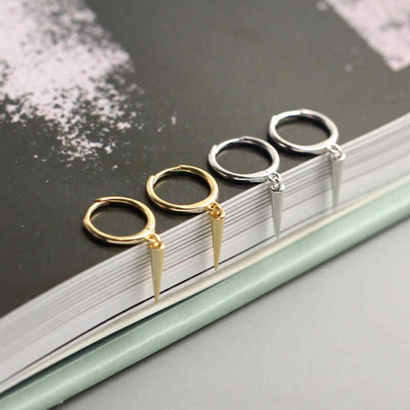 أقراط INZATT Real 925 من الفضة الإسترليني أقراط على شكل مخروط من أجل موضة النساء مجوهرات راقية للحفلات أكسسوارات بسيطة هدية كلاسيكية