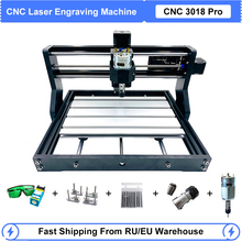 CNC 3018 Pro Laser Engraver Wood CNC Router Machine GRBL ER11 Hobby DIY 3 Axis PCB Milling Mini Laser Engraving Machine 0.5W-15W