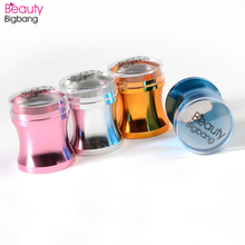 BeautyBigBang 4cm Metal Nail Art Stamper XL Soft Clear Jelly Silicone Head Polish Stencil DIY Stamping Plate Accessories Tools