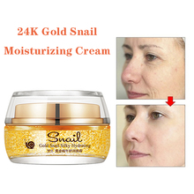 24k Gold Snail Cream Moisturizing Hydrating Refreshing Oil Control Anti-aging Whitening Anti-Wrinkle Cream Face Care