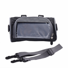 купить 2.5L Windshield Bag Motorcycle Front Handlebar Fork Storage Bag Container Fabric Waterproof Bicycle Front Frame Bag Black дешево