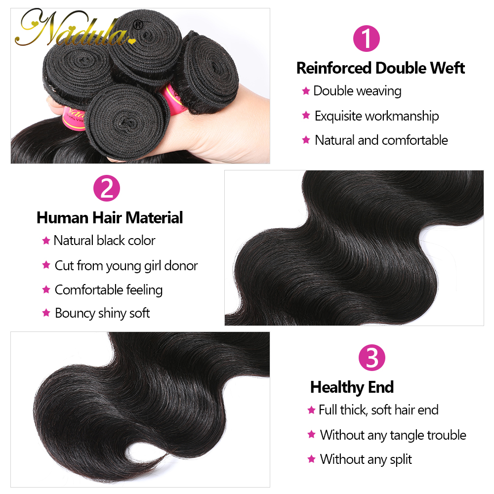 Nadula Hair 5x5 HD Lace Closure With Bundles  Body Wave Bundles With Closure  Transparent Frontal and Bundles 3