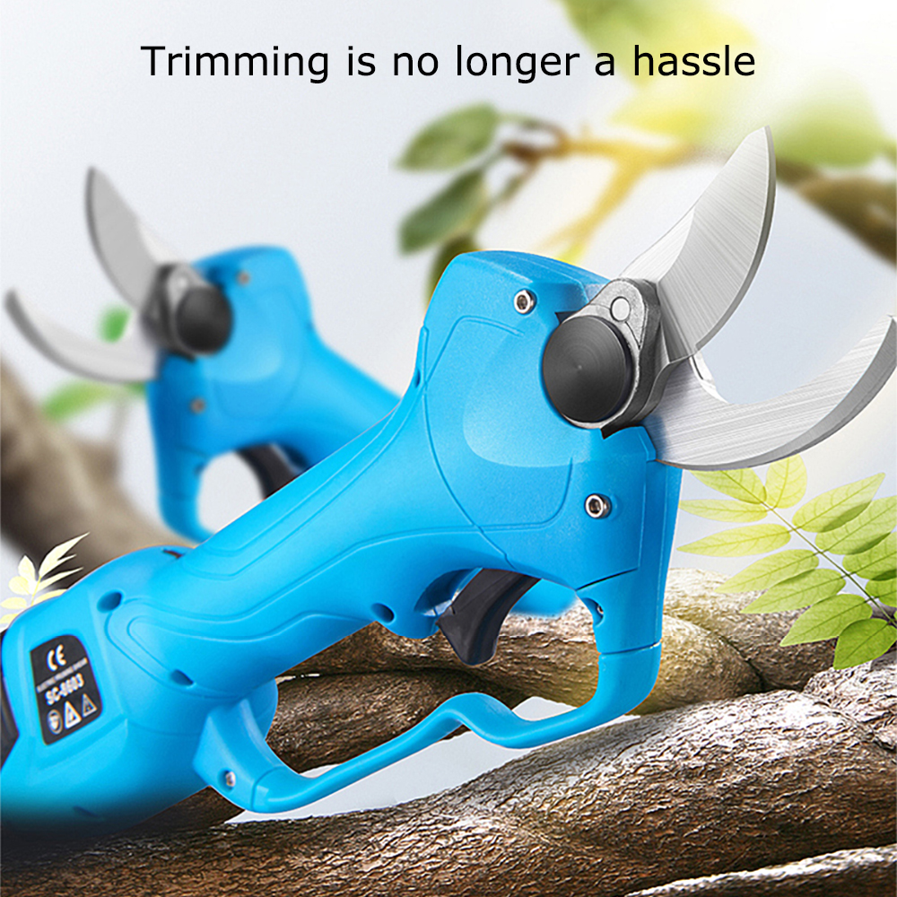 Good Value NEW Professional Cordless Pruner Electric Pruning Shears Tree Branch Pruner 0.8~1.1 Inch w/2 Rechargeable 16.8V Lithium Battery 4001151565322
