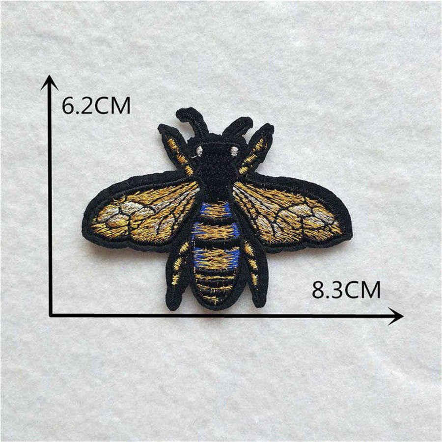 Cartone animato ape Zona Del Ricamo Insetto Adesivi Paillettes Hornet Ferro Su Toppe e Stemmi Per Abbigliamento FAI DA TE Decor Cloth Dress Borse Accessori