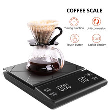Portable Electronic Digital Coffee Scale With Timer High Precision LED Display Household Weight Balance Measuring Tools