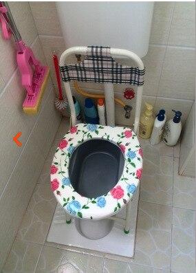 Piédestal Pan tabouret-renforcé confortable vieil homme toilette pour femmes enceintes pot chaise ménage tabouret anti-dérapant chaise pliante