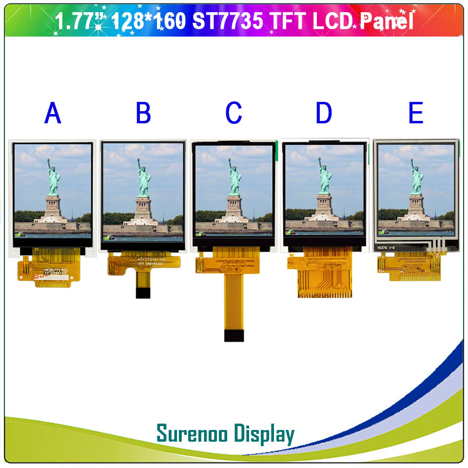 "1.77 / 1.8"" Inch 128*160 Serial SPI / 8_Bit MCU TFT LCD Module Display Screen Panel LCM Build-in ST7735 & Touch Panel"