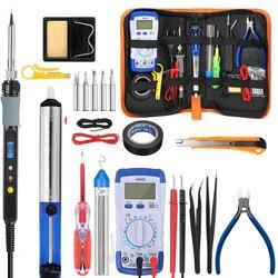 Handskit-kit de pistola para soldar Digital de 80W, multímetro de soldador eléctrico con Control de temperatura, 5 puntas de soldadura, herramientas de soldadura