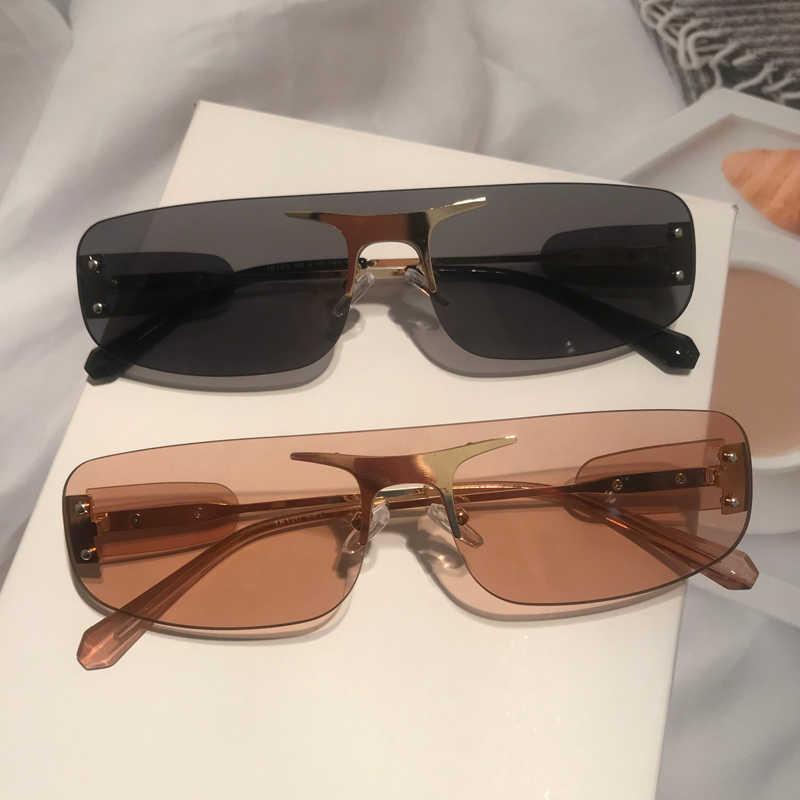 quadratisch f/ür Damen und Herren kleine Farbe DENGHENG Sonnenbrille rahmenlos