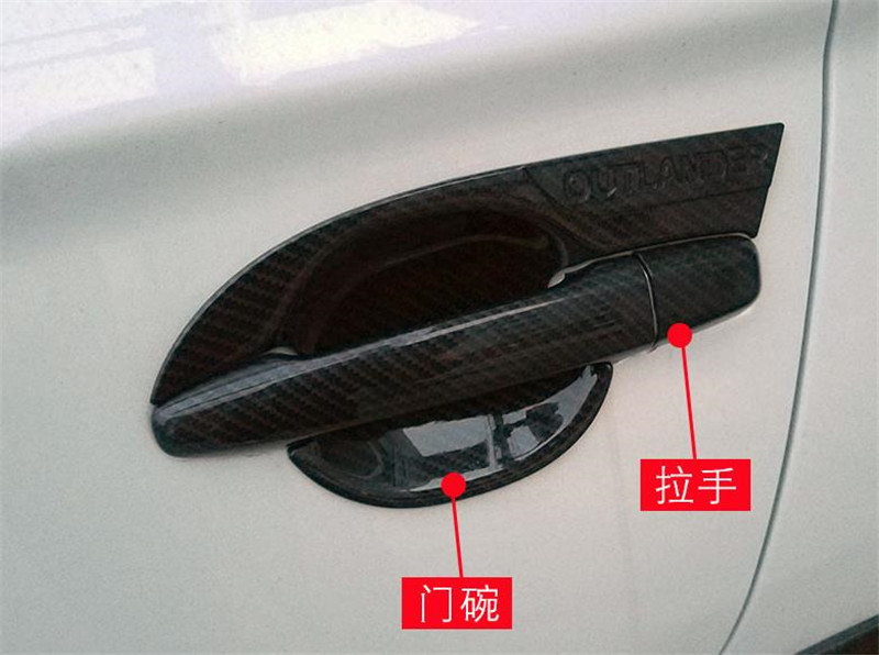 ABS Charcoal <font><b>Door</b></font> <font><b>handle</b></font> Protective covering Cover Trim Car styling for 2013-2018 <font><b>Mitsubishi</b></font> Outlander image