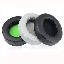 Protetores de ouvido para razer kraken pro v2 de substituição de couro de proteína e espuma de memória fone de ouvido para jogos almofada de ouvido oval protetor de ouvido