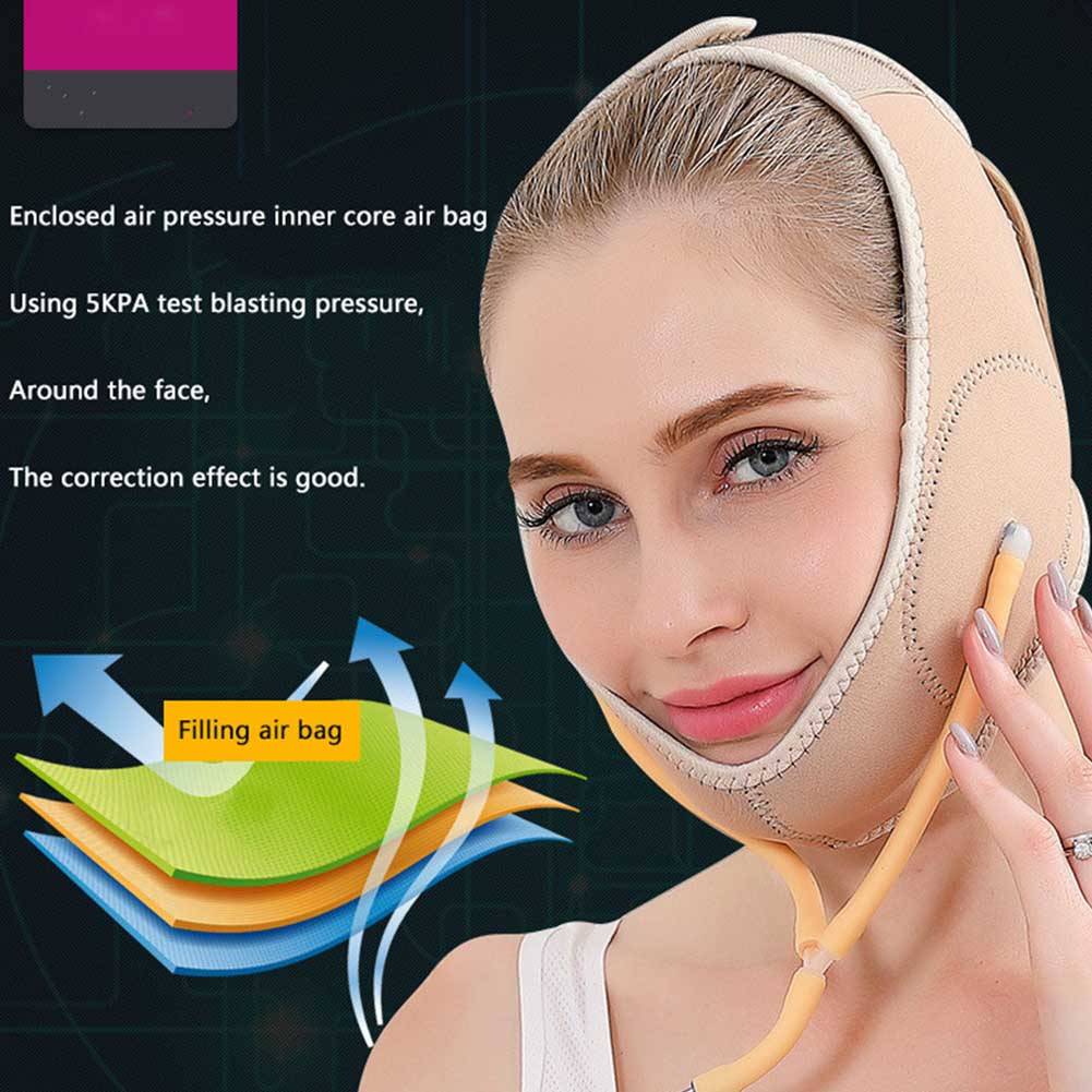 Shaping Compression Tools Thin Masseter Face Lift Mask Slimming Belt Elastic Inflatable Correction Double Chin Air Supercharging