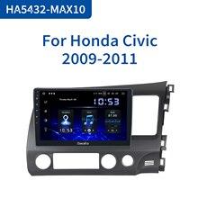 "Dasaita 10.2"" 1 Din Car Android 10.0 Radio for Honda Civic 2006 2007 2008 2009 2010 2011 1280*720 GPS Carplay  Bluetooth"