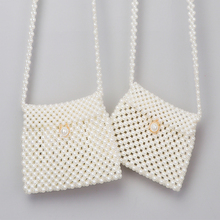 Handmade beaded dumplings pearl bag woven Korean version of the small pockets sh