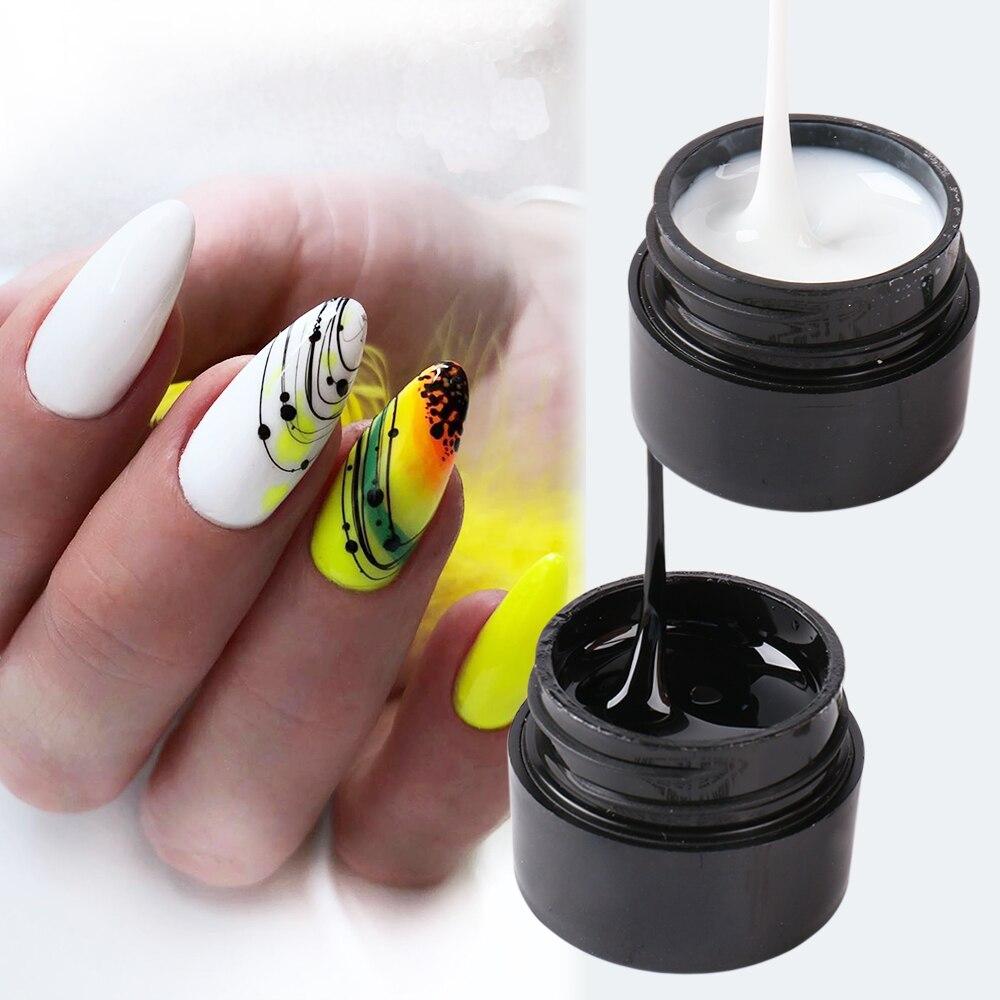 6 мл паутинка для ногтей Гель-лак для ногтей дизайн ногтей черные линии лаки для маникюр DIY украшения гель краска для рисования на ногти GL1615