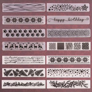 NCraft Plastic Embossing folders For Scrapbooking DIY Photo Album Card 15x3cm