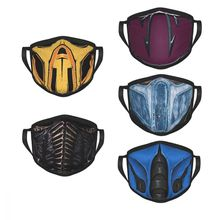 Mortal Kombat Sub Zero Reusable Mouth Face Mask Scorpion Game MKX Anti Haze Anti Dust Protection Cover Respirator Mixed Muffle