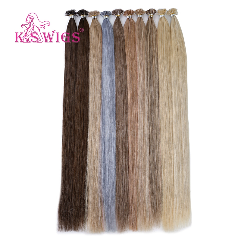 K.s Wigs 28'' 1g/s Straight Double Drawn Nail U Tip Hair Extension Remy Keratin Fusion Pre Bonded Human Hair On Capsule Reliable Performance