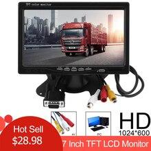 1024x600 7 дюймов ультра тонкий TFT lcd HD монитор Аудио Видео AV автомобильный домашний монитор яркий цвет с VGA интерфейсом