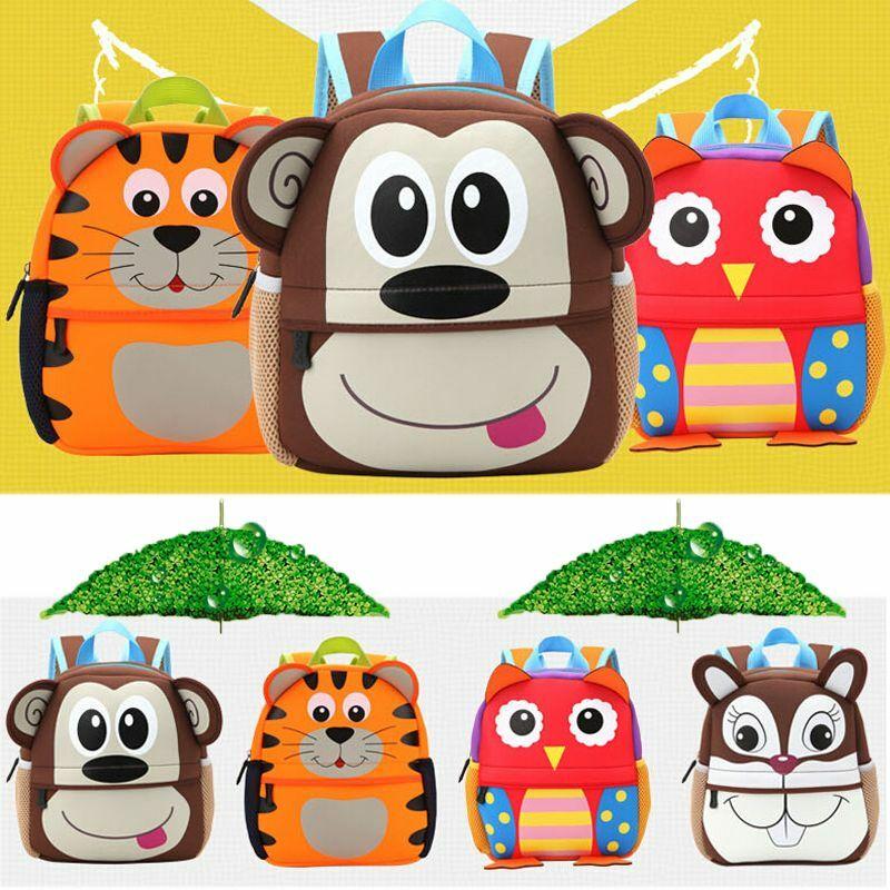 2019 CANIS Kid Toddler Backpack Kindergarten Schoolbag Baby 3D Cartoon Animal Bag Kindergarten School Bag Gifts