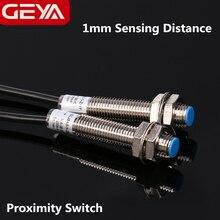 цена на Free Shipping GEYA 1mm Sensing Proximity Sensor Detection Switch NPN PNP DC 10-30V Proximity Switch DC 3 Wire
