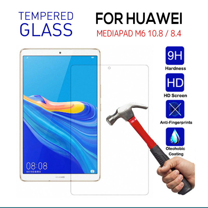 Tempered Glass For Huawei Mediapad Mediapad M5 10 Pro M6 10.8  Screen Protective Film Tablet Screen Protector For Huawei M6 8.4