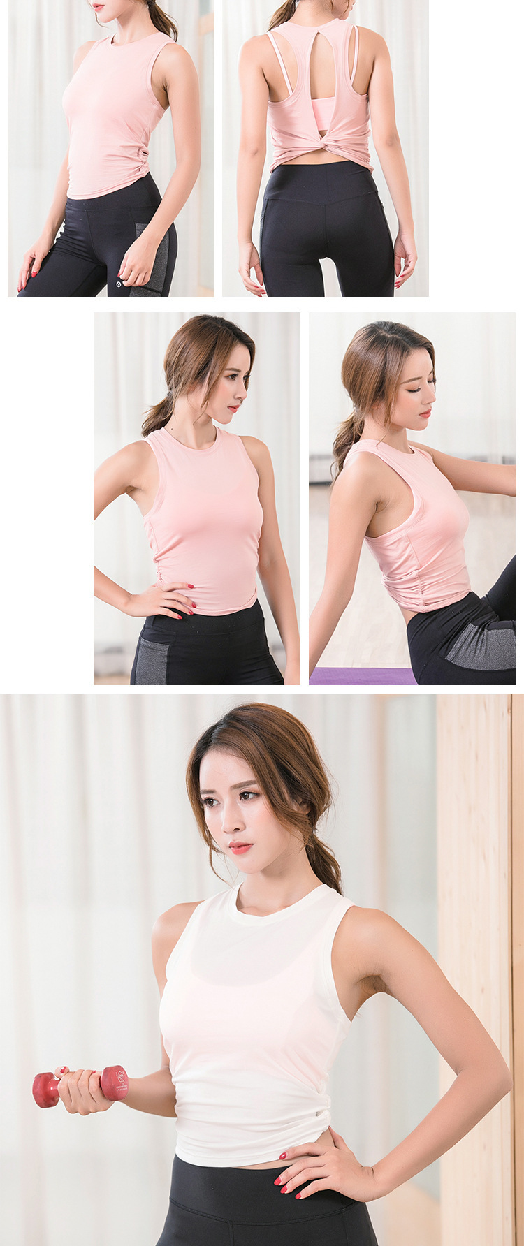 Workout Backless Crop Top Backless