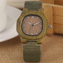 2020 nowości drewniany zegarek naturalny jasno drewniana twarz moda oryginalna skórzana bransoletka Unisex prezenty dla kobiet mężczyzn Reloj de madera