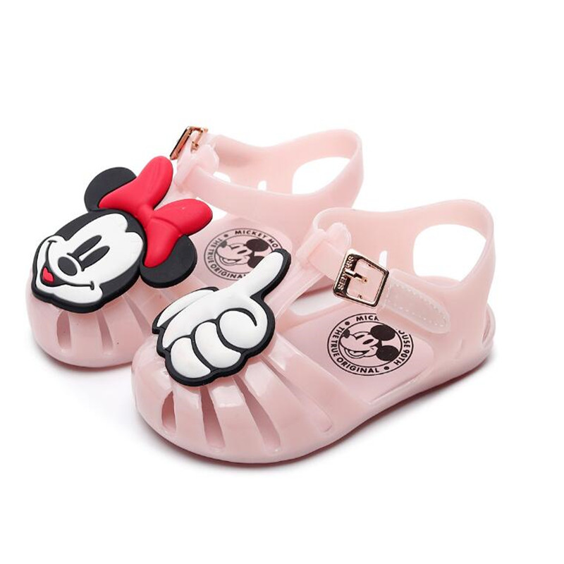 Kids Sandals New Minnie Children's Shoes Mickey Beach Shoes Jelly Children's Shoes Boys And Girls Baby Shoes