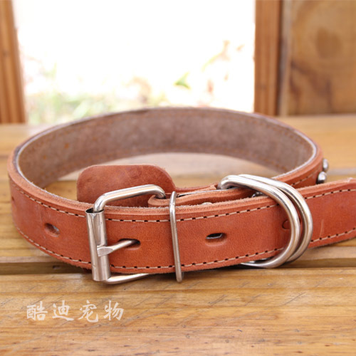 Neck Ring Dog Pet Supplies Cowhide Large And Medium-sized Pet Supplies Collar Dog Genuine Leather Large And Medium-sized Dog