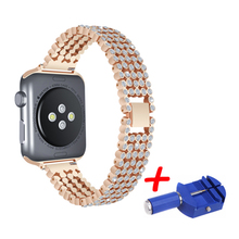 цена на Stainless Steel Strap For Apple Watch 42mm 38mm 4 3 2 1 Metal Watchband Three Link Bracelet Band for iWatch Series 4 5 40mm 44mm