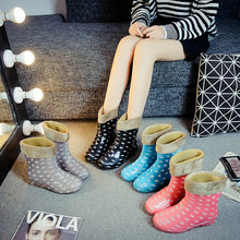fashion lady Rain Boots 2019 Colorful Spot low top Rubber Boots Fashion Waterproof Rainboot Slip-Resistant Water Women Shoes cheap wenjie brother Mid-Calf Fits true to size take your normal size Round Toe Low (1cm-3cm) 7cm And Up Adult