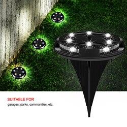 10 LED energia słoneczna pochowany światło lampa gruntowa ścieżka zewnętrzna ogród Decking podziemne lampy Dropshipping