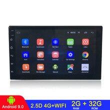 Android 9.1 2 Din araba radyo multimedya Video oynatıcı evrensel otomatik Stereo GPS harita için Volkswagen Nissan Hyundai Kia toyota CR V