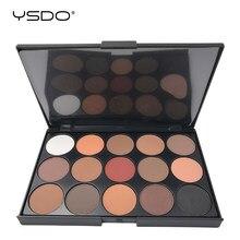 15 paleta kolorowych cieni do powiek matowy cień do powiek długotrwały łatwy do zastosowania profesjonalny cień do powiek Eye primer Beauty narzędzia do makijażu 01