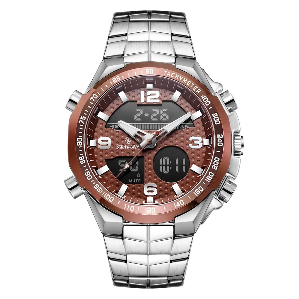 שעון יוקרה עם תצוגה כפולה לגבר Senors 2
