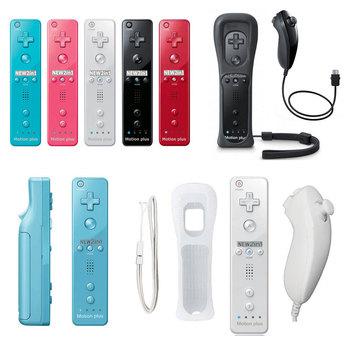 Dla nintendo pilot Wii 2 w 1 bezprzewodowy pad do gier Joystick Joypad dla Wiimote Nunchuck wbudowany Motion Plus tanie i dobre opinie ONETOMAX CN (pochodzenie) Gamepady For Nintend Wii Gamepad Bluetooth
