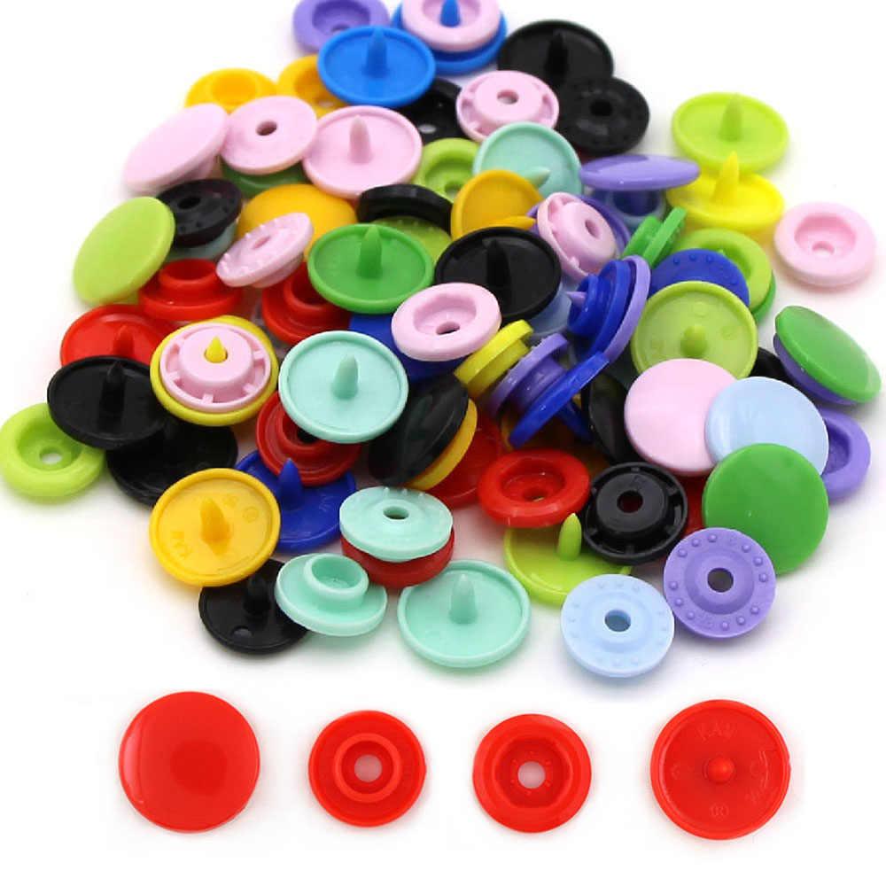 20 zestawów T5 okrągły przycisk KAM 12MM plastikowy guzik zatrzaskowy na ubrania Snap nity do zapięć na zatrzaski do odzieży dla dzieci DIY rzemiosło 35 kolorów