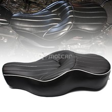 купить for Harley XL883 XL1200 N Sportster 05-13 Motorcycle Black Solo Leather+Soft Foam Style Rear Pillion Low-Pro Old School Seat по цене 8055.43 рублей
