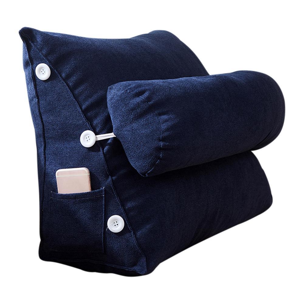 Nordic Simple Korean Velvet Bed Bay Window Long Pillow Sofa Cushion Zipper Removable Washable Adjustable Back Wedge Pillow