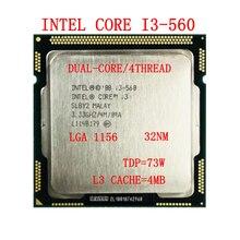 Intel Core i3-560  CPU  Dual-Core 3.3 GHz  i3 560 Processor 4M 73W LGA 1156 for Desktop