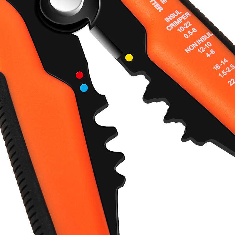 LOMVUM 와이어 커터 스트리퍼 클램프 Insul 크림 퍼 멀티 도구 펜치 자동 0.2-6.0mm 케이블 커팅 Reparing 핸드 툴