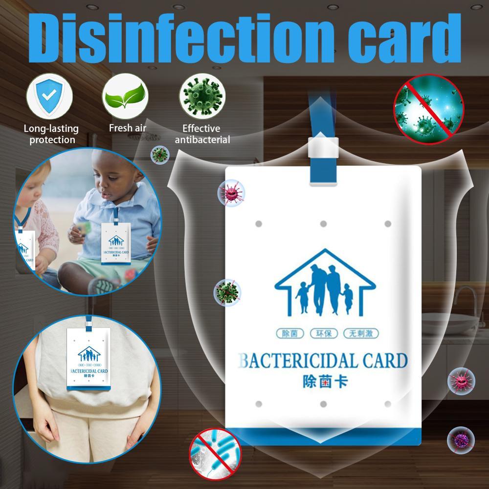 2/4/6pc Virus Shut Out Space Air Sterilization Card Disinfection Sterilization Lanyard Protection Card Deodorant Sterilize Card