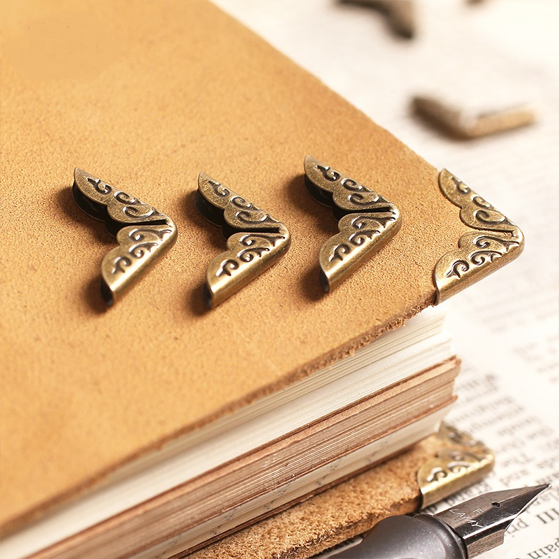 20pcs/lot Book Metal Corner Bronze Tone 15*15mm Album Notebook Diary Planner Corner Protectors