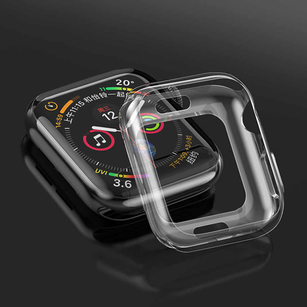 غطاء شفاف لساعة أبل 5 حافظة iwatch 44 مللي متر 40 مللي متر apple watch 4 رفيع جدا واقي للشاشة من مادة البولي يوريثان واقي للشاشة ملحقات الساعة
