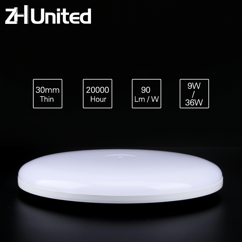 LED Circular Panel Light Surface Mounted Led Ceiling Light 9W 13W 18W 24W 36W AC85-265V 110V 220v Lampada Led Lamp