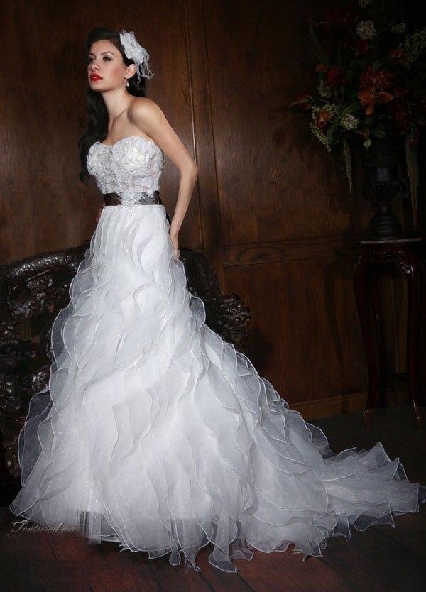 Free Shipping 2018 Custom Custom Size Sweetheart Organza Ruffles Bridal Gown Vestido De Noiva Mother Of The Bride Dresses