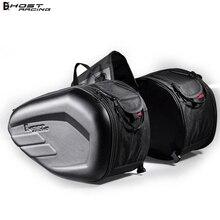 2pcs Universal Motorcycle Saddlebag Tail Bag Luggage Knight Helmet Motorbike Parts for Honda Suzuki Kawasaki