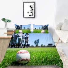 Grassland Bedding Set Baseball Fashionable 3D Natu