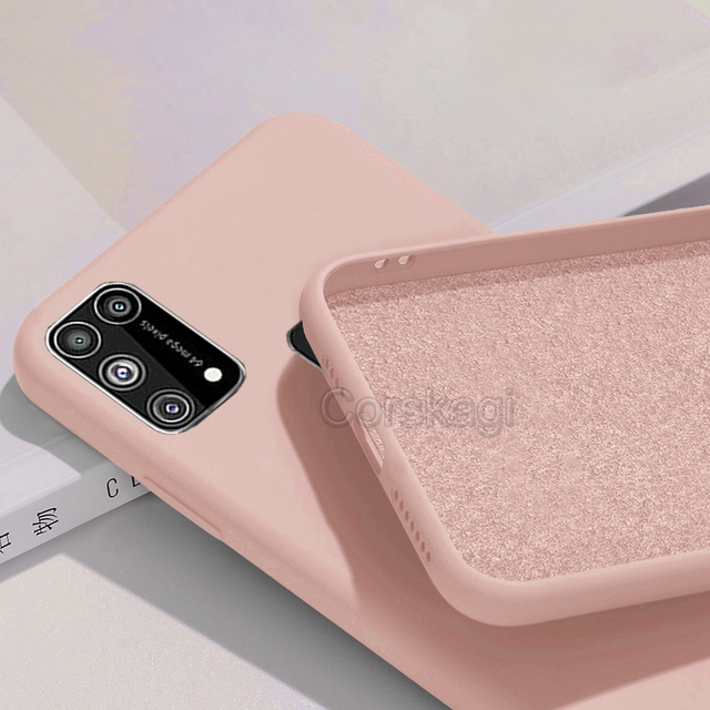 Soft Liquid Silicone Cover Case For Samsung Galaxy M51 M31 M21 M31S S20 FE S10 Lite S10e Note 10 20 A12 A51 A71 A31 A52 A21S A72 3
